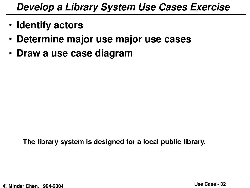 Develop a Library System Use Cases Exercise
