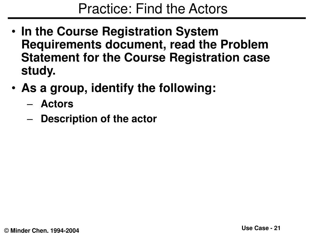 Practice: Find the Actors