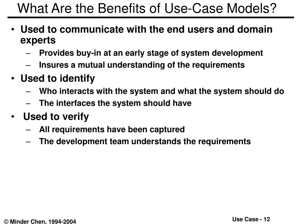 What Are the Benefits of Use-Case Models?