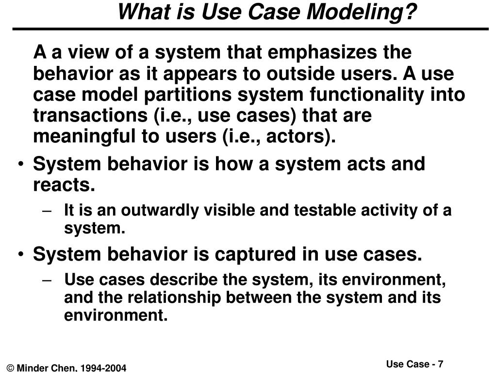 What is Use Case Modeling?