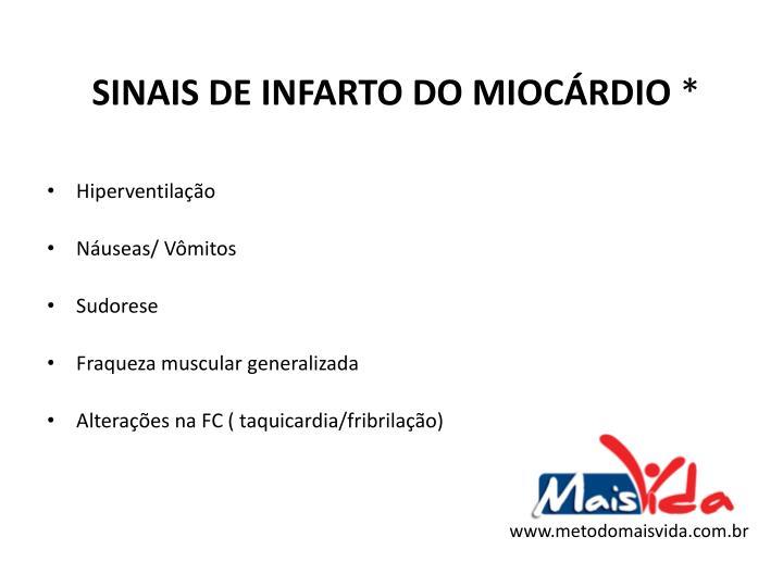 SINAIS DE INFARTO DO MIOCÁRDIO
