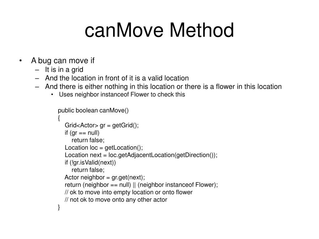 canMove Method