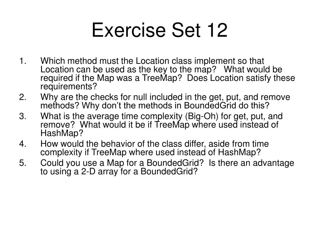 Exercise Set 12