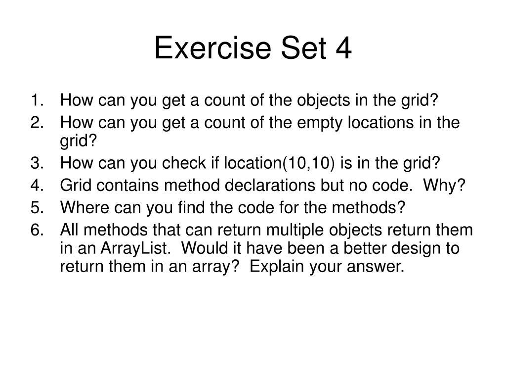 Exercise Set 4