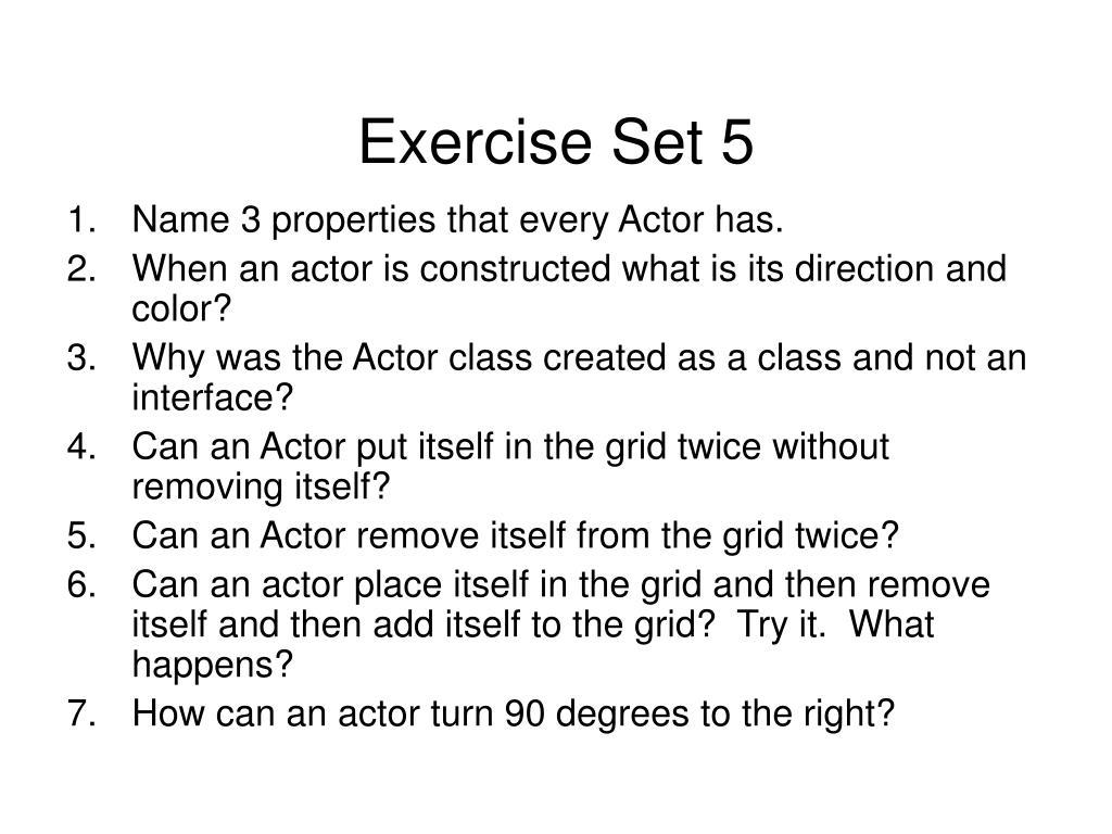 Exercise Set 5