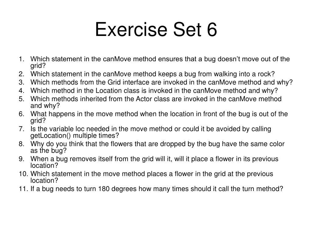 Exercise Set 6