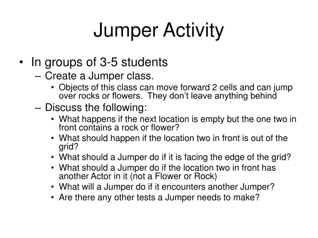 Jumper Activity