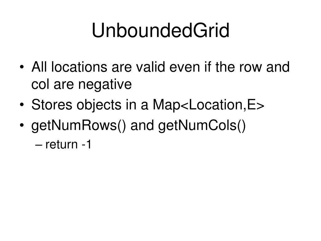 UnboundedGrid