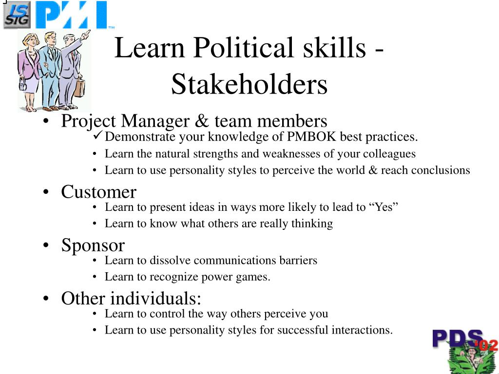 Learn Political skills - Stakeholders