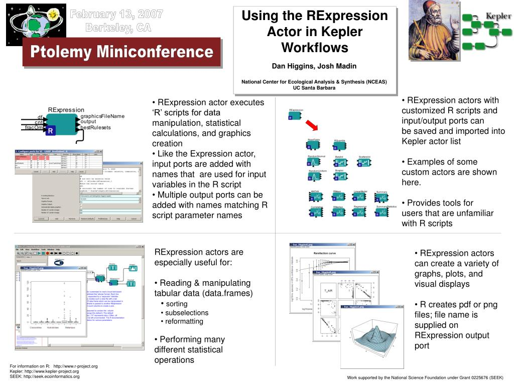 Using the RExpression Actor in Kepler Workflows