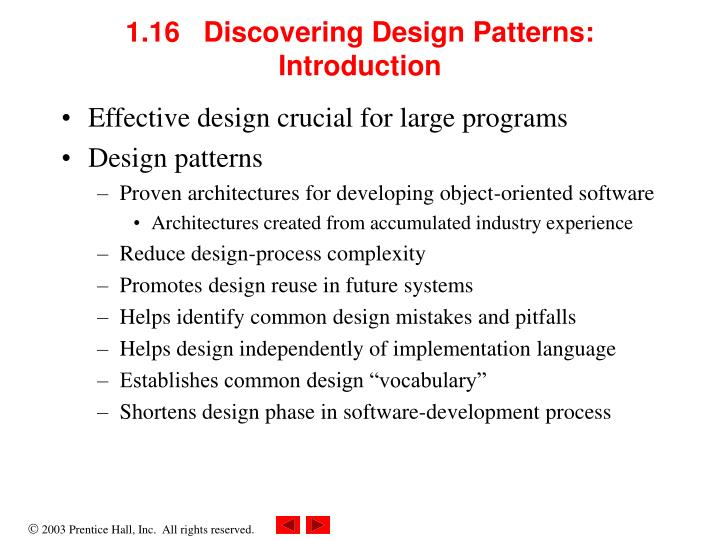 1.16   Discovering Design Patterns: Introduction