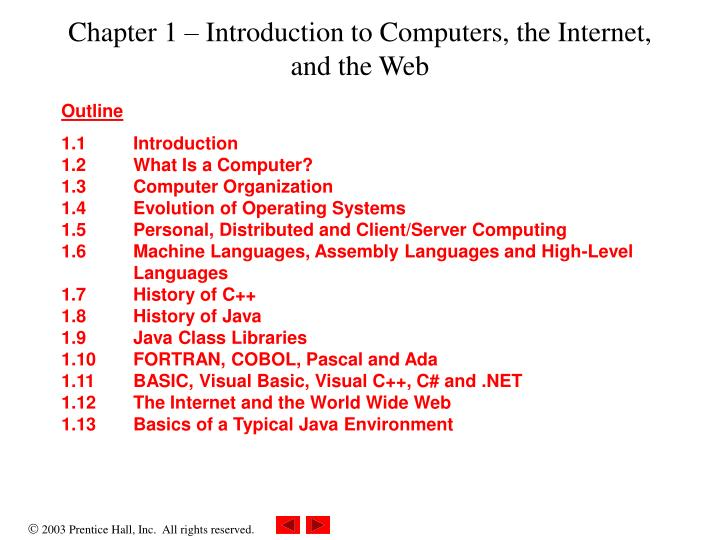 Chapter 1 introduction to computers the internet and the web