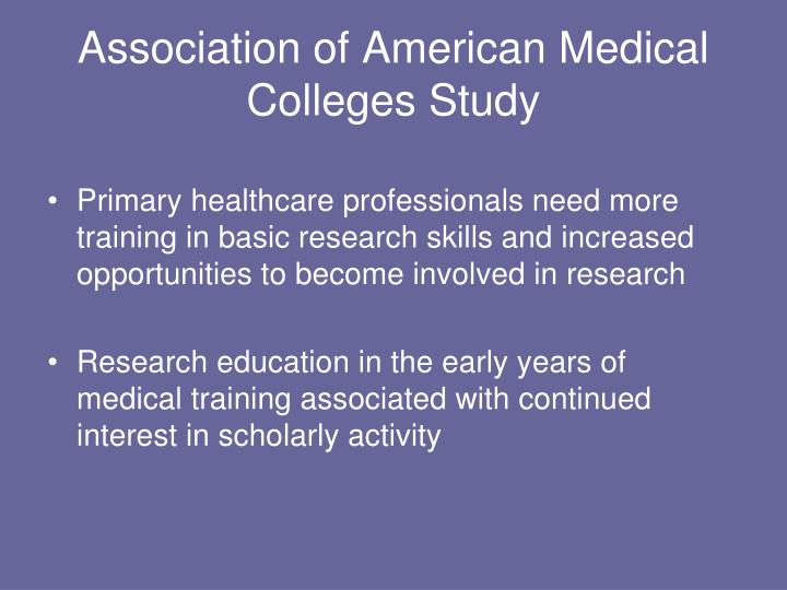 Association of American Medical Colleges Study