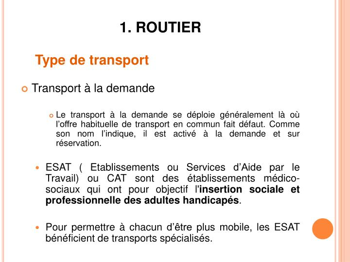 1. ROUTIER