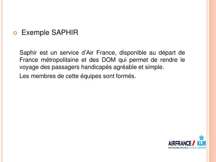 Exemple SAPHIR