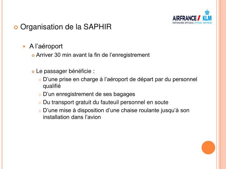 Organisation de la SAPHIR