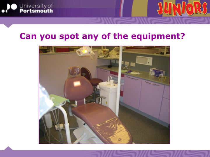 Can you spot any of the equipment?