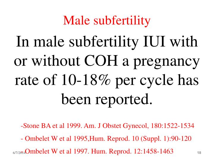 Male subfertility