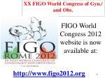 xx figo world congress of gyn and obs
