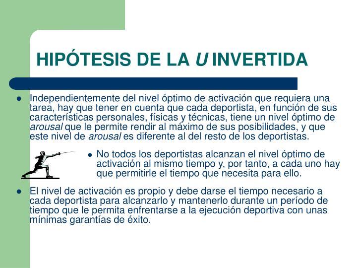 HIPÓTESIS DE LA