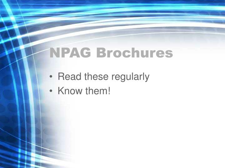 NPAG Brochures