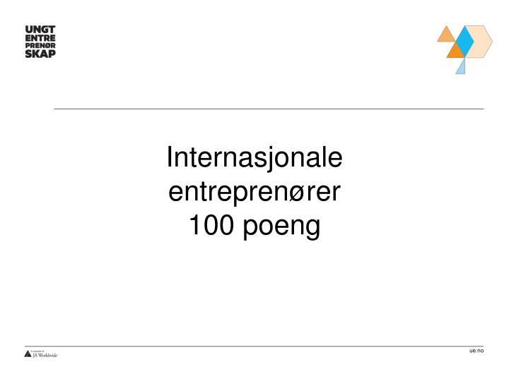 Internasjonale entreprenører