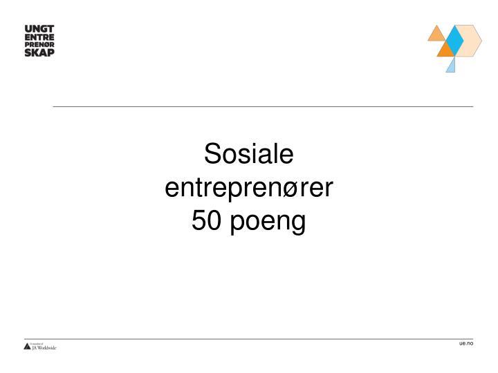 Sosiale entreprenører