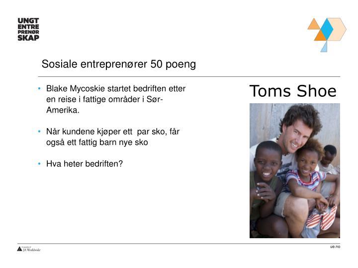 Sosiale entreprenører 50 poeng