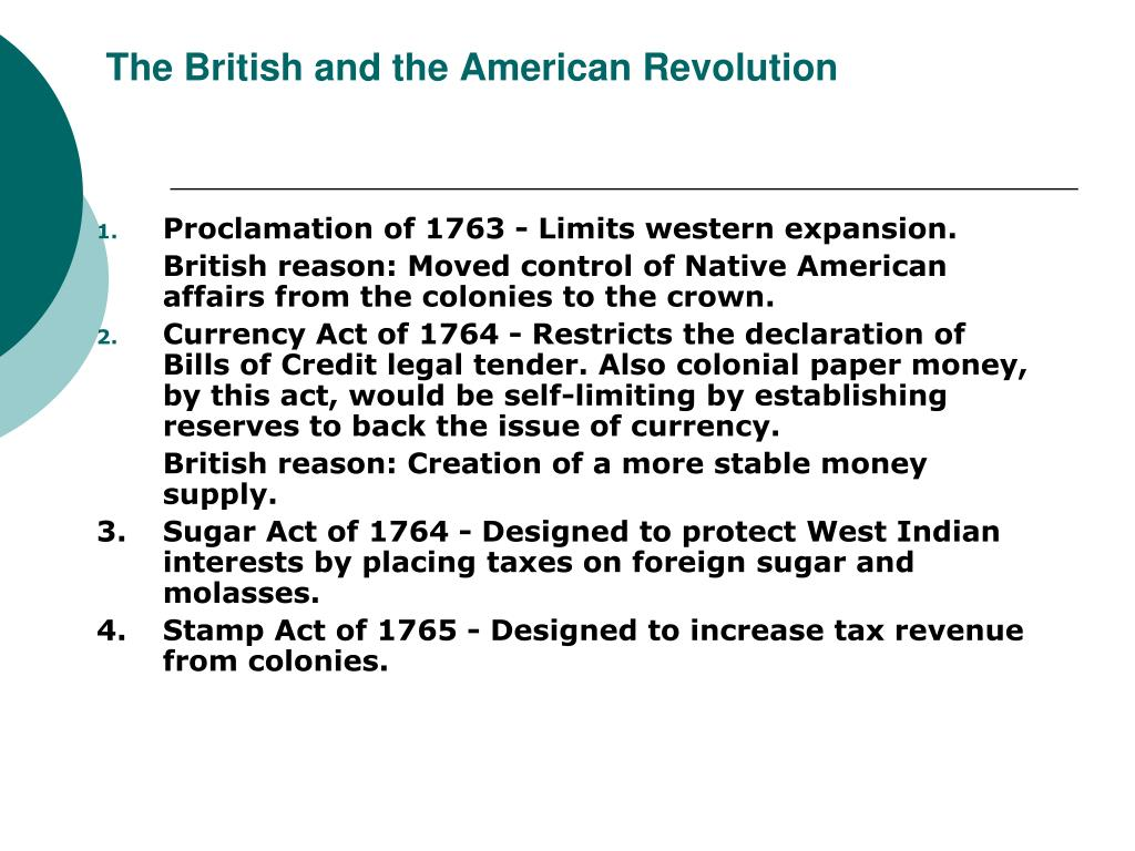 the contribution of the british acts to the american revolution Studied the role of the colonial merchants in american revolution3  taxes were  limited to taxpayers in england, wales and (believe it or not) the town.