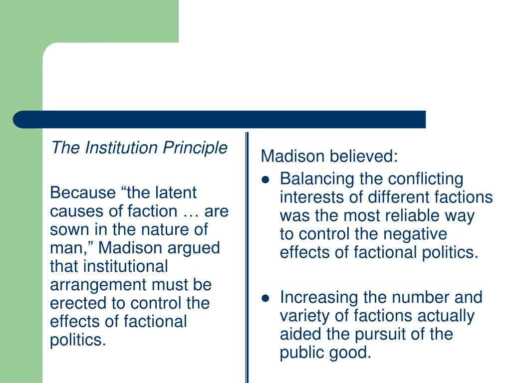 The Institution Principle
