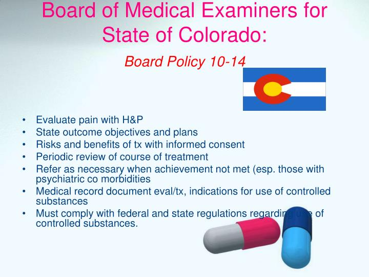 Board of Medical Examiners for State of Colorado: