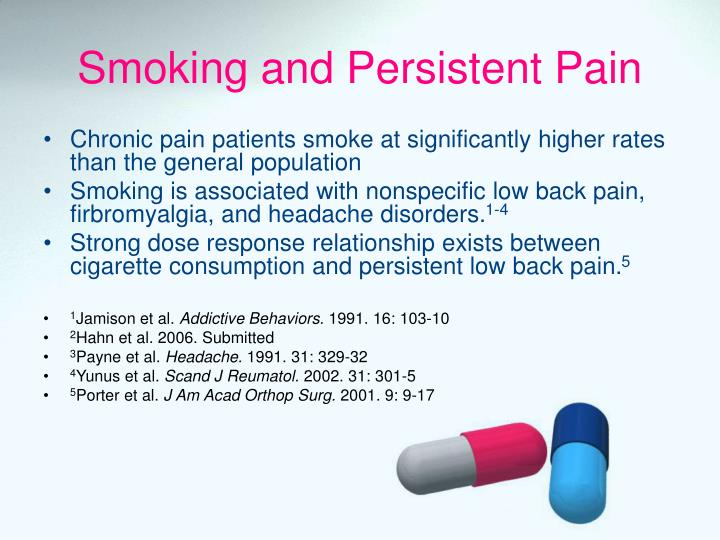 Smoking and Persistent Pain