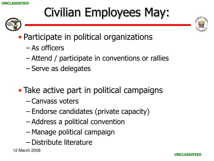 Civilian Employees May:
