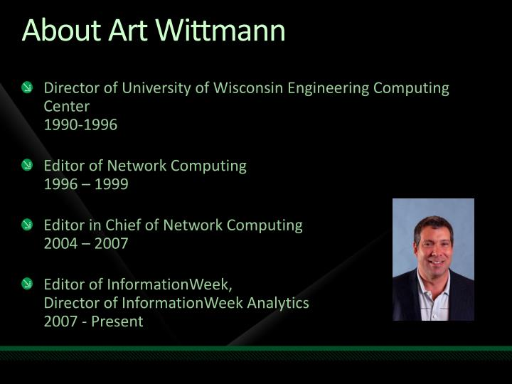 About art wittmann