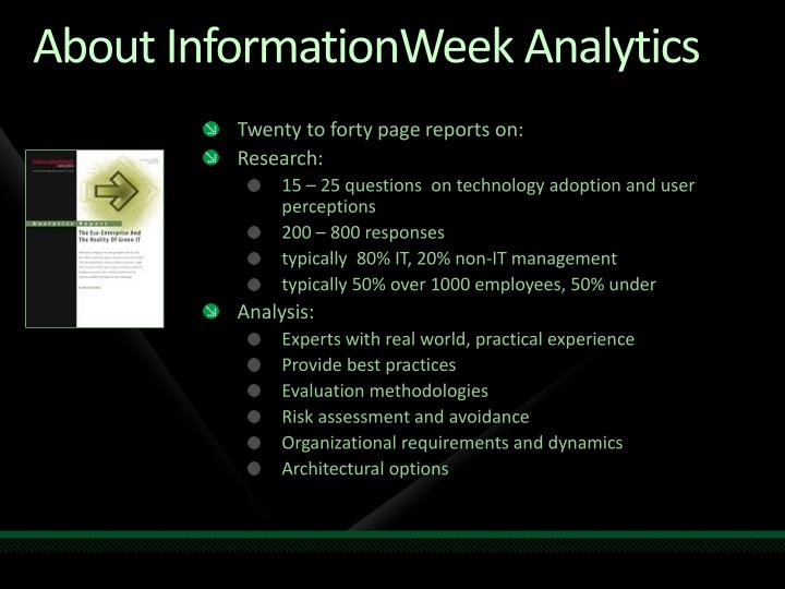 About InformationWeek Analytics