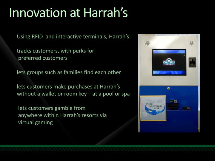 Innovation at Harrah's