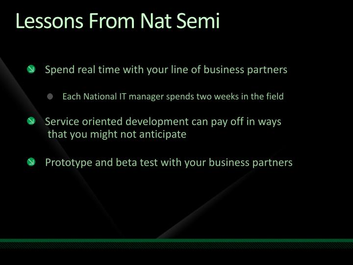 Lessons From Nat Semi