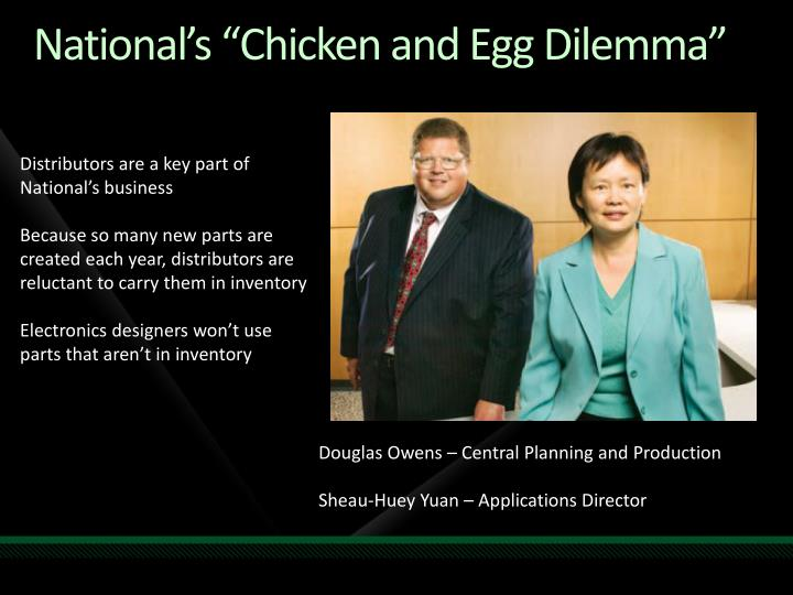 "National's ""Chicken and Egg Dilemma"""