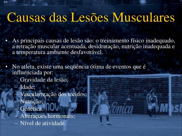 Causas das Lesões Musculares