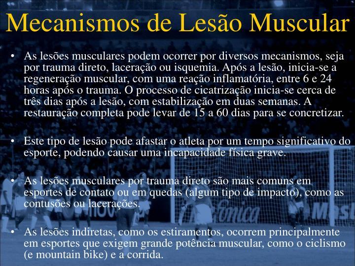 Mecanismos de Lesão Muscular