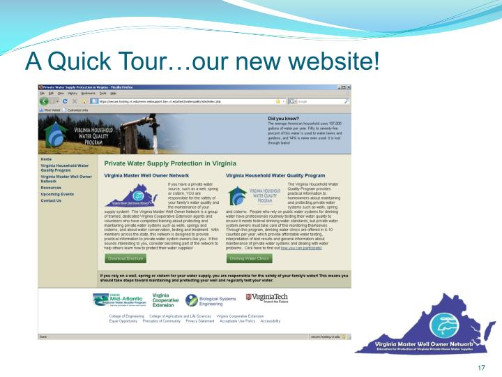 A Quick Tour…our new website!