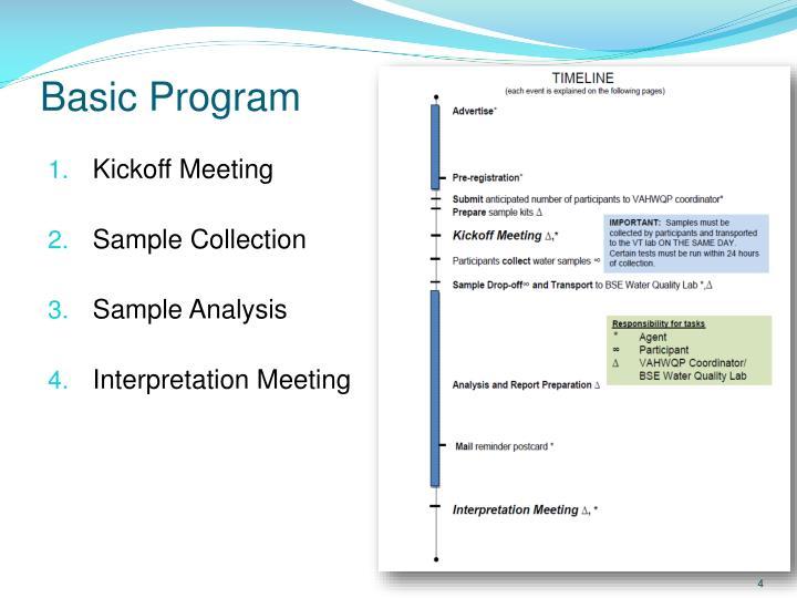 Basic Program