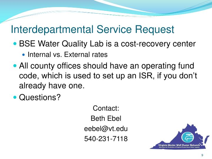 Interdepartmental Service Request