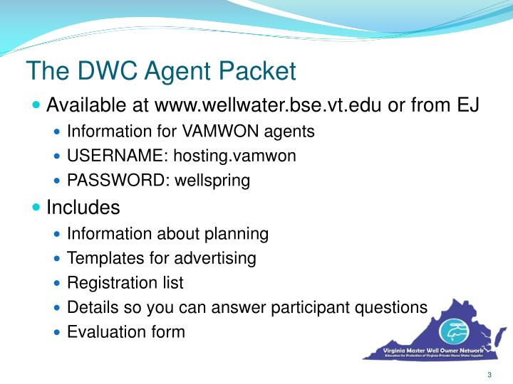 The dwc agent packet