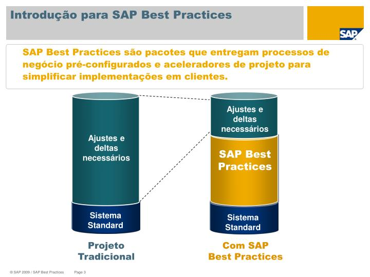Introdu o para sap best practices