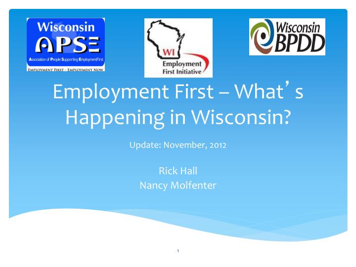 Employment First – What