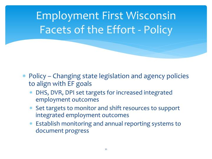 Employment First Wisconsin