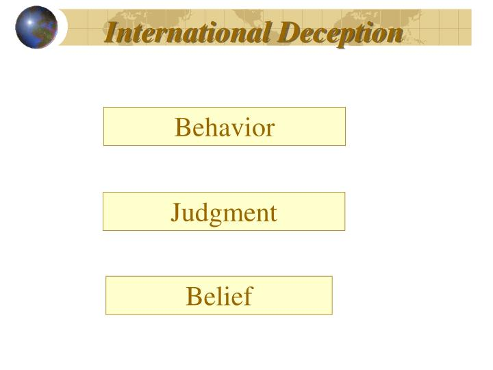 International Deception