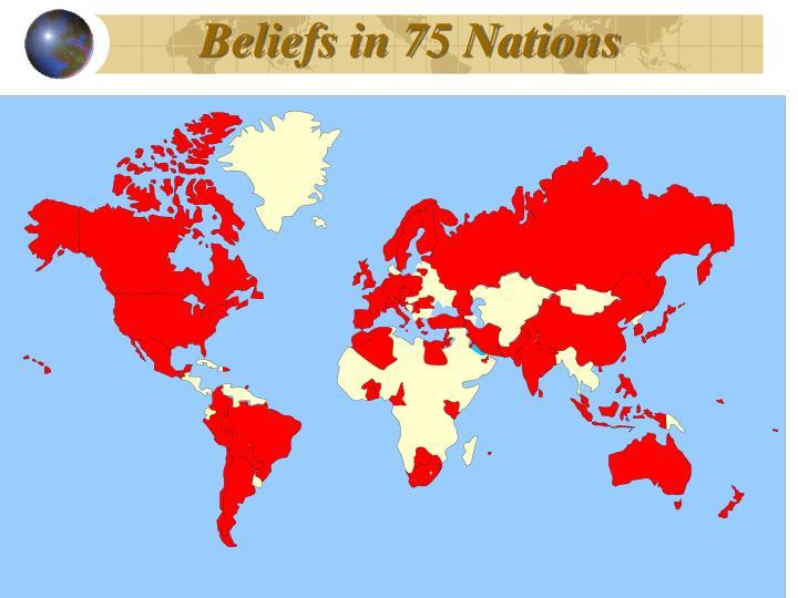 Beliefs in 75 Nations