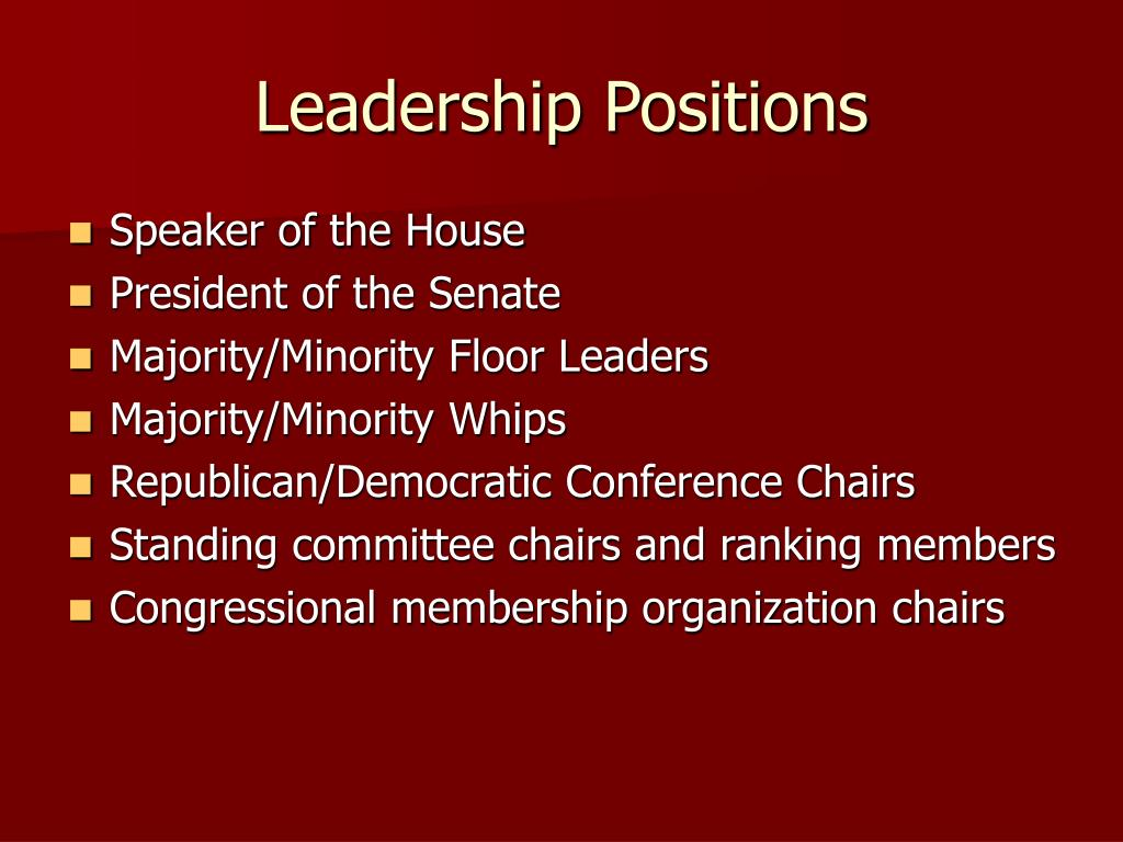 Leadership Positions